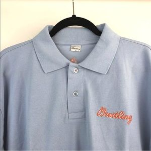 Breitling Short Sleeve Embroidered Polo Shirt